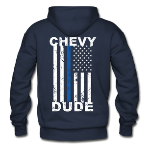 BACK THE BLUE - Men's Hoodie - navy