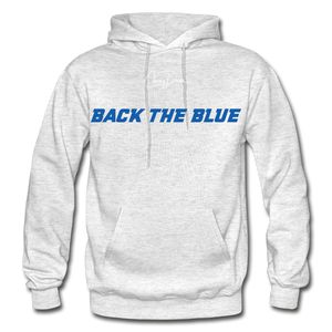 BACK THE BLUE - Men's Hoodie - light heather gray