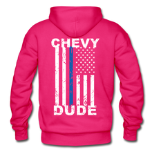 Load image into Gallery viewer, BACK THE BLUE - Men's Hoodie - fuchsia