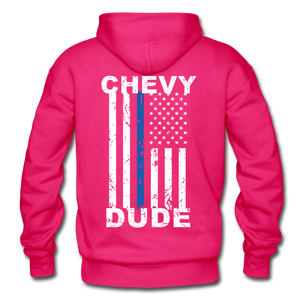 BACK THE BLUE - Men's Hoodie - fuchsia