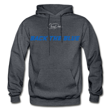 Load image into Gallery viewer, BACK THE BLUE - Men's Hoodie - charcoal gray