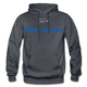 BACK THE BLUE - Men's Hoodie - charcoal gray