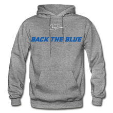 Load image into Gallery viewer, BACK THE BLUE - Men's Hoodie - graphite heather