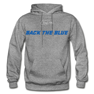 BACK THE BLUE - Men's Hoodie - graphite heather