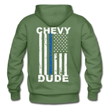 Load image into Gallery viewer, BACK THE BLUE - Men's Hoodie - military green