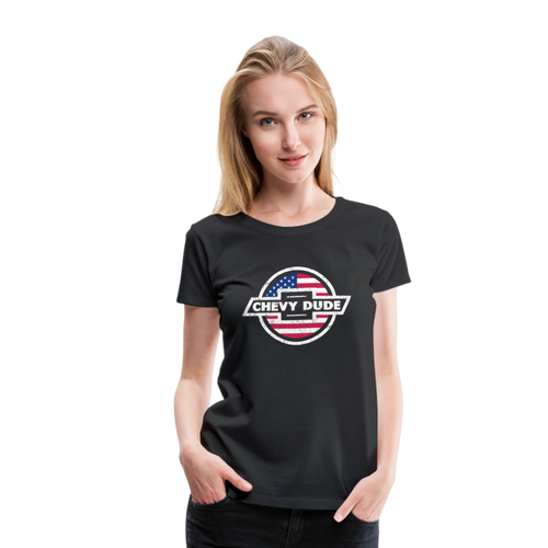 Women's Chevy Dude Bow Tie Premium Tee - black