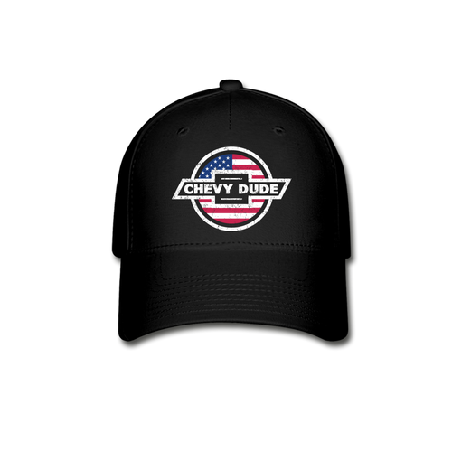Chevy Dude America Flex Fit Hat - black