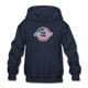 Chevy Dude Bow Tie Youth Hoodie - navy