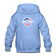Chevy Dude Bow Tie Youth Hoodie - carolina blue