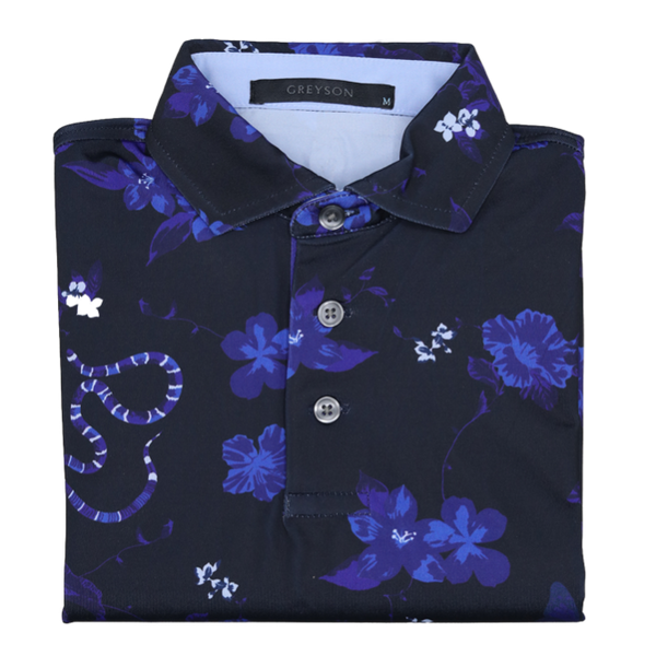 Greyson Pups Youth Snakefloral Polo