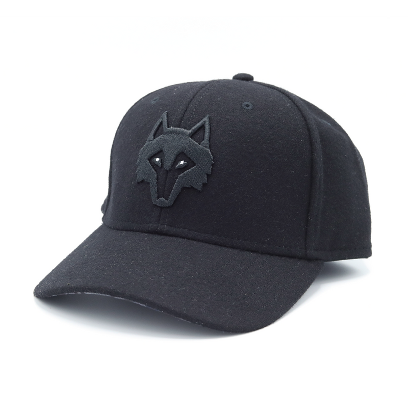 Black Flannel Wolf Hat