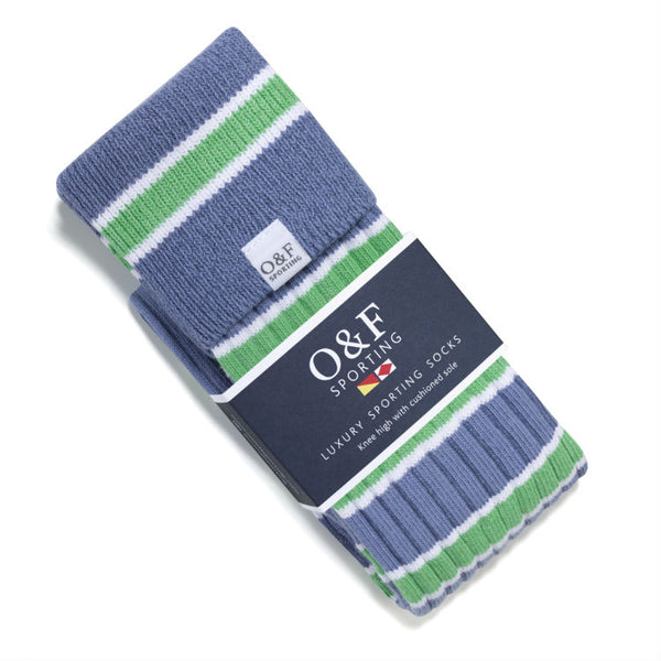 blue white and green luxury socks