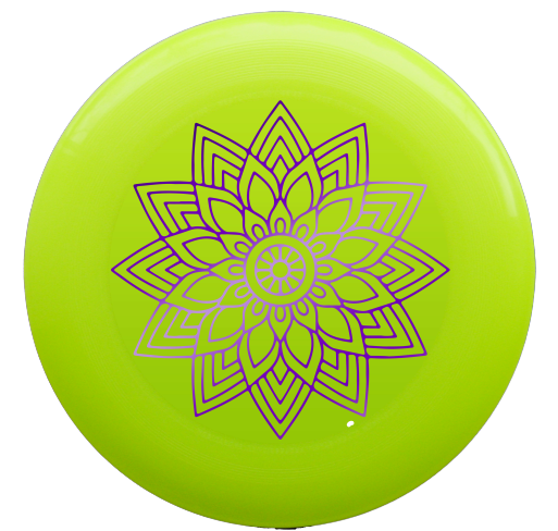 פריסבי - discraft ultrastar 175g mandala hot-stamp yellow