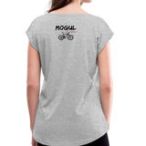 Women's Roll Cuff T-Shirt - Mogul Cyclewear - heather gray