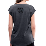 Women's Roll Cuff T-Shirt - Mogul Cyclewear - navy heather