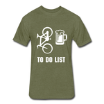To Do List - Bike then Beer - heather military green