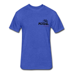 Fitted Cotton/Poly T-Shirt by Next Level - heather royal
