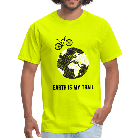 Earth Is My Trail - Mogul Shirt - safety green