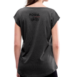 Women's Roll Cuff T-Shirt - Mogul Cyclewear - heather black