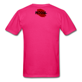 Men's T-Shirt Worn Look - fuchsia