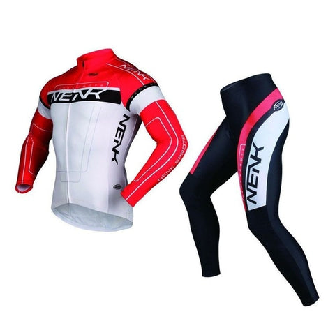 SOBIKE NENK Men's Cycling Bike Long Sleeve Jersey/Pants