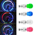2pcs Bicycle Light Skull Shape Tyre Valve Caps LED