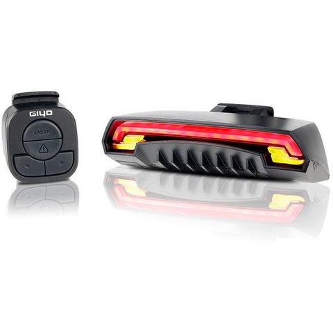 Rechargeable USB Bicycle Rear Tail Light Laser