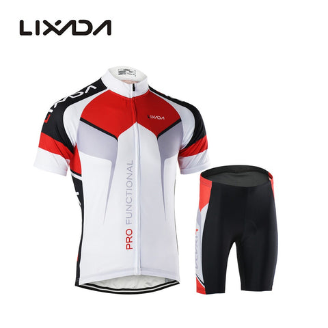 Quick Dry Comfortable Short Sleeve Jersey + Padded Shorts Cycling Clothing Set