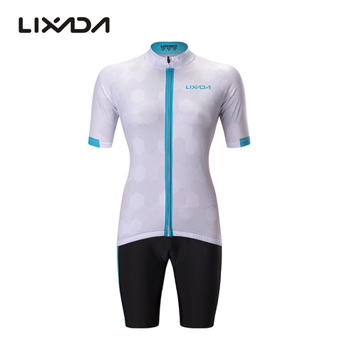 Lixada Women's Full-zip Short Sleeve Cycling Jersey