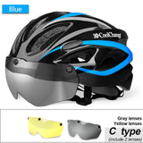 CoolChange Bicycle Helmet MTB Bike Windproof Lenses
