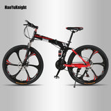 HaoYuKnight Bicycle 21 speed off-road folding bike