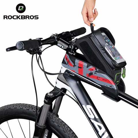Bicycle Frame Tube Bag Waterproof with Touch Screen