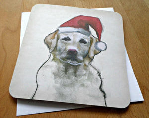 Set of 10 double 'A Dog's Christmas' handmade 15 cm x 15 cm with envelopes