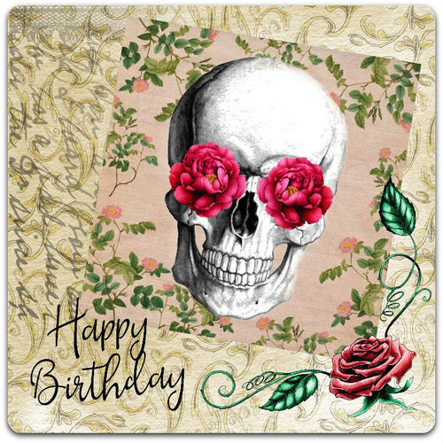 20cm x 20cm greeting card happy birthday hand made with envelope - Card Bubble large format