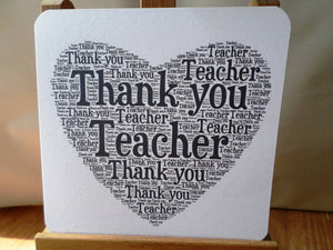 Thankyou teacher - end year master, mistress in English the words art
