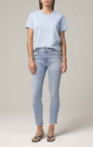 Rocket Crop Mid Rise Skinny - Soft Fade