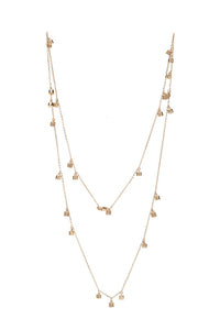 "Diamond & Gold Fairy Dust 26"" Necklace"