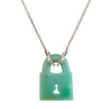 Australian Chrysoprase Fixed Padlock Necklace