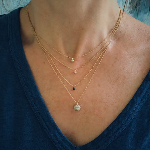 Diamond Tiny BonBon Necklace