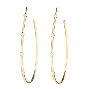 Stones Teardrop Earrings