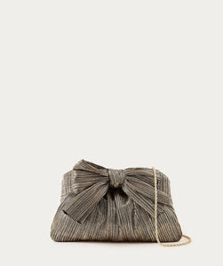 Rayne Bow Clutch - Metallic Gold