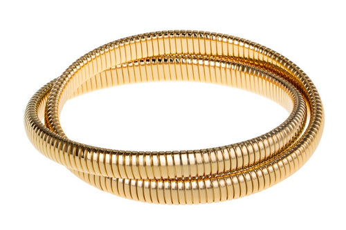 Double Gold Cobra Bracelet