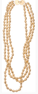 Klecks Gold Trade Beaded Necklace