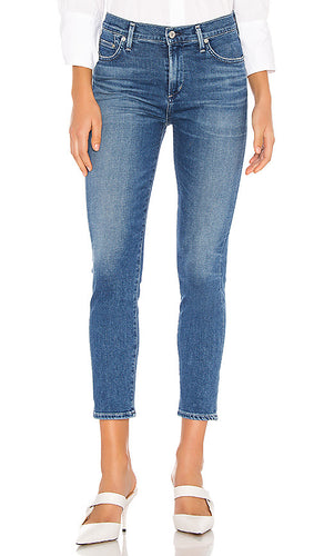 Rocket Crop Mid Rise Skinny - Beach Glass