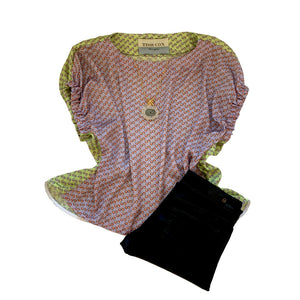 Kloe Silk Top - Dots