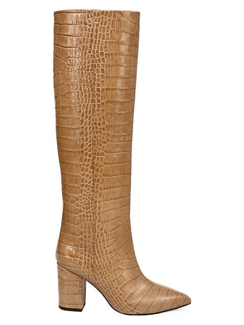 Knee High Croc Embossed Boot