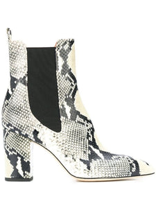 Snakeskin Bootie - Natural