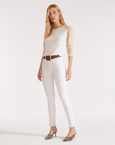 Kate High Rise Skinny Jeans - White