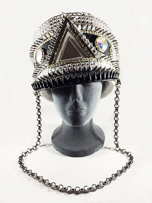 Parade Hat - Silver and Black