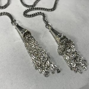 Fancy Silver Chandler Face Chain - Necklace